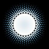 Elemento de semitono del diseño del vector del marco del círculo Imagenes de archivo
