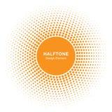 Elemento de Sunny Circle Halftone Logo Design Icono del vector de Sun Fotografía de archivo libre de regalías