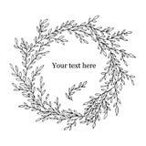 Elemento decorativo circular o guirnalda del vector a mano para su diseño Ilustración del vector Fotos de archivo libres de regalías