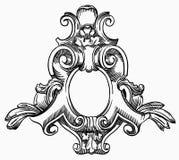 Elemento decorativo da fachada de um histórico ilustração do vetor