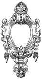 Elemento decorativo da fachada de um histórico ilustração stock