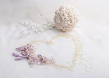 Elemento decorativo de la invitación del partido de la boda o de compromiso Foto de archivo libre de regalías