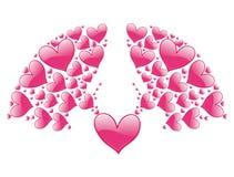 Elemento decorativo de la tarjeta del día de San Valentín Imagen de archivo