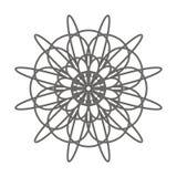 Elemento decorativo del fiore d'annata Pagina del libro da colorare illustrazione di stock