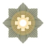 Elemento decorativo del guilloquis Fotos de archivo