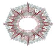 Elemento decorativo del guilloquis Foto de archivo libre de regalías