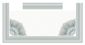Elemento decorativo del guilloquis para el certificado, el diploma y el billete de banco del diseño Foto de archivo libre de regalías