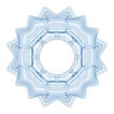 Elemento decorativo del guilloquis para el certificado, el diploma y el billete de banco del diseño Fotografía de archivo libre de regalías