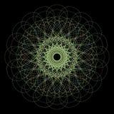 Elemento decorativo della rosetta della rabescatura di vettore struttura astratta del cerchio colorato illustrazione vettoriale