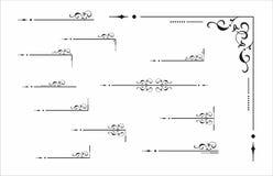 Elemento decorativo do canto e do divisor Imagens de Stock