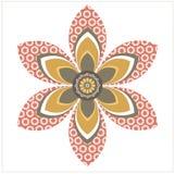 Elemento decorativo do girassol Imagem de Stock
