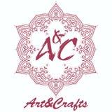 Elemento decorativo do logotype étnico Mão desenhada Imagem de Stock