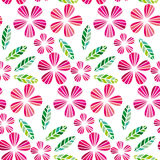 Elemento decorativo do projeto da licença e da flor Fotos de Stock