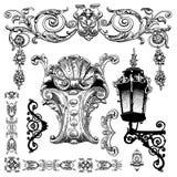 Elemento decorativo do projeto de Lviv histórico Fotografia de Stock Royalty Free
