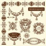 Elemento decorativo do projeto de Lviv histórico Fotos de Stock Royalty Free