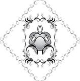 Elemento decorativo en el marco para el diseño Foto de archivo libre de regalías