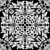 Elemento decorativo floral abstracto en illustr negro del vector del color Foto de archivo libre de regalías