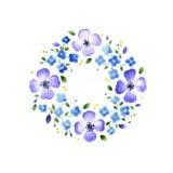 Elemento decorativo floreale dell'acquerello illustrazione vettoriale