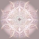 Elemento decorativo hermoso con las hojas Imagen de archivo