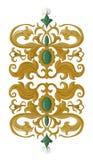 Elemento decorativo medievale tradizionale su bianco isolato Fotografia Stock Libera da Diritti