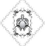Elemento decorativo no frame para o projeto Foto de Stock Royalty Free