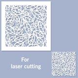 Elemento decorativo para el corte del laser ilustración del vector
