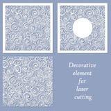 Elemento decorativo para el corte del laser stock de ilustración