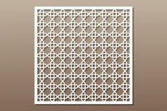 Elemento decorativo para el corte del laser Ornamento geométrico libre illustration