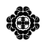 Elemento decorativo redondo del ornamento mandala ilustración del vector
