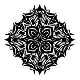 Elemento decorativo redondo del ornamento mandala stock de ilustración