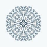 Elemento decorativo redondo do estilo floral do laço Imagens de Stock Royalty Free