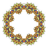 Elemento decorativo redondo do vetor Fotografia de Stock Royalty Free