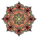 Elemento decorativo rotondo dell'ornamento mandala royalty illustrazione gratis