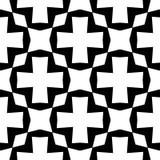 Elemento decorativo sem emenda preto e branco foto de stock