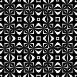 Elemento decorativo sem emenda preto e branco imagens de stock