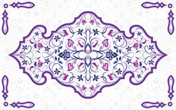 Elemento decorato arabo Fotografia Stock Libera da Diritti