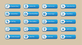 Elemento del botón del web Fotos de archivo