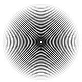 Elemento del círculo concéntrico en un fondo blanco stock de ilustración