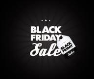 Elemento del cartel de la venta de Black Friday Letras creativas trendy Vector de la venta Foto de archivo libre de regalías