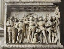 Elemento del castel en Nápoles Imagen de archivo