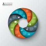 Elemento del cerchio di vettore per infographic Fotografie Stock