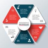 Elemento del cerchio di vettore per infographic Fotografia Stock Libera da Diritti