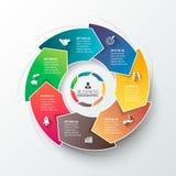 Elemento del cerchio di vettore per infographic Immagini Stock