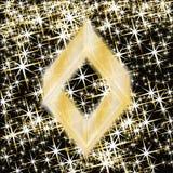 Elemento del diamante della mazza, insegna del casinò, vettore Immagini Stock Libere da Diritti