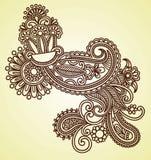 Elemento del diseño de la alheña stock de ilustración
