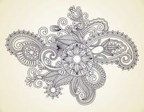 Elemento del diseño de la alheña ilustración del vector