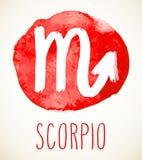 Elemento del diseño de la muestra del zodiaco del escorpión Imagen de archivo libre de regalías
