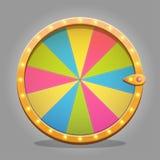 Elemento del diseño de la rueda de la fortuna Imágenes de archivo libres de regalías