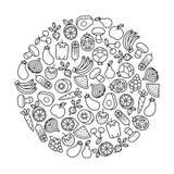 Elemento del diseño de las frutas y verduras Fotos de archivo libres de regalías
