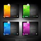 Elemento del diseño de tarjeta del Web Imagenes de archivo